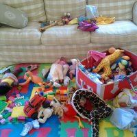 Desorden y caos después de jugar