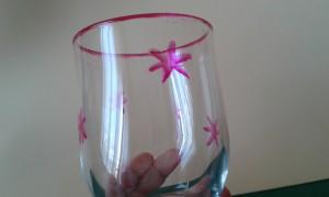 Decoración del vaso con estrellas
