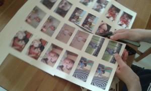 Imprimimos fotografías familiares por duplicado para hacer el memory