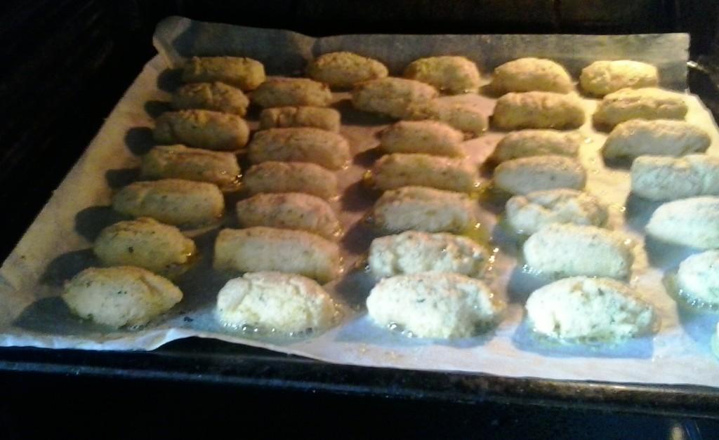 Las croquetas en el horno