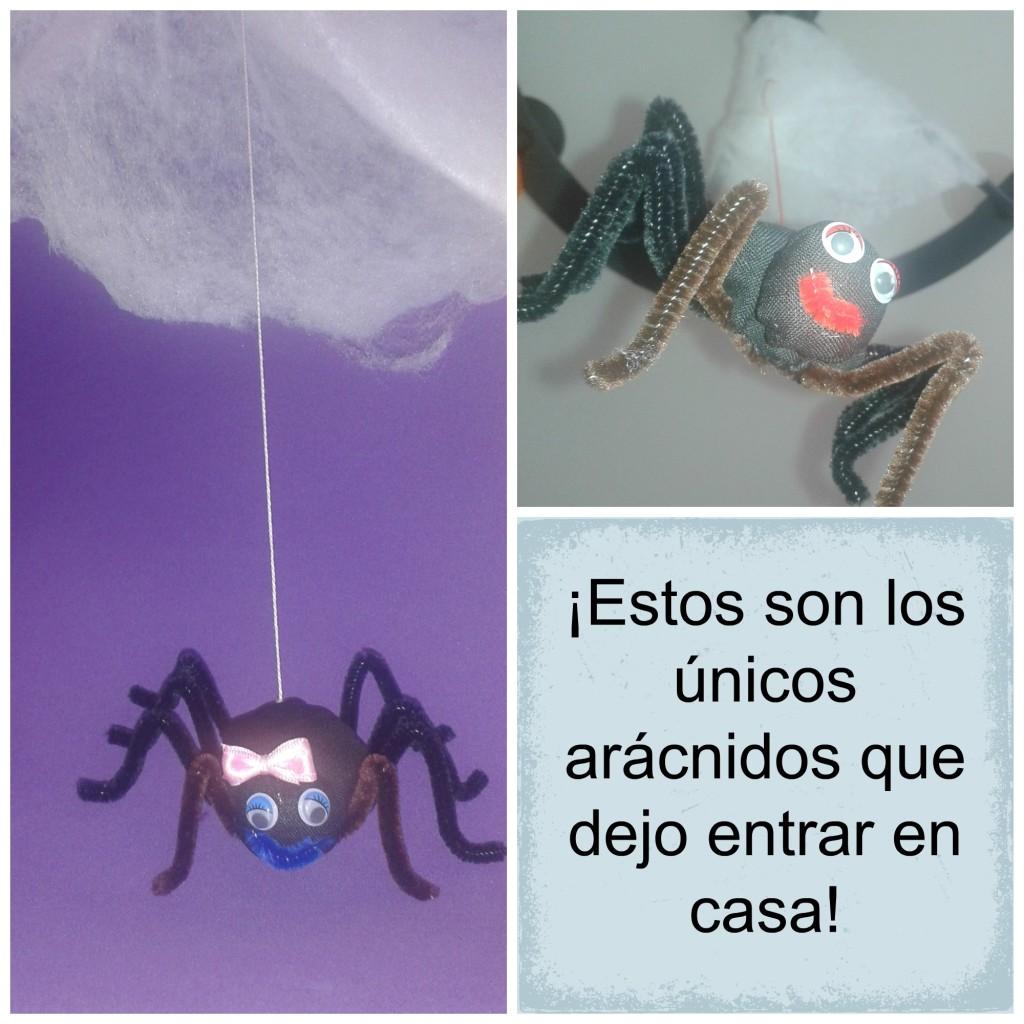 Collage de las arañas ya finalizadas