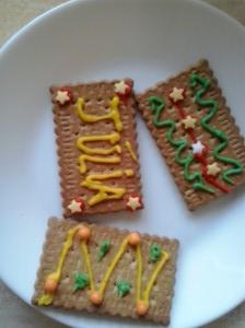 Galletas decoradas con lápices pasteleros