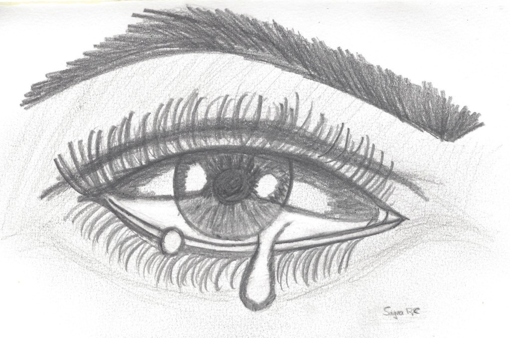 ojo llorando por la muerte de un ser querido
