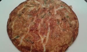 La tortilla de espárragos trigueros silvestres