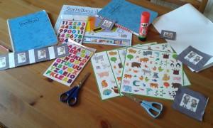Materiales para decorar los cuadernos de exploradores