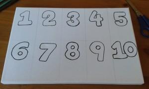 Lienzo con los números del 1 al 10