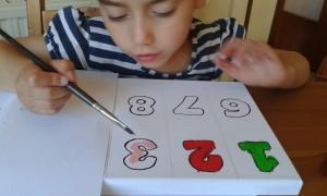 Coloreando los números