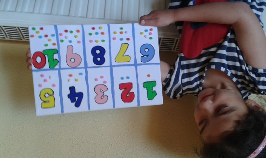 Cuadro de números hecho por Júlia