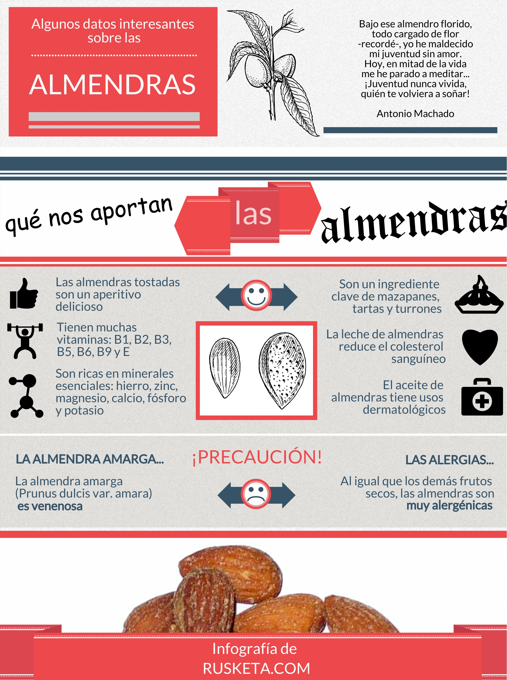 Infografía de las almendras