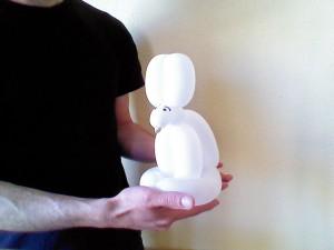 Conejo con detalles en la cara
