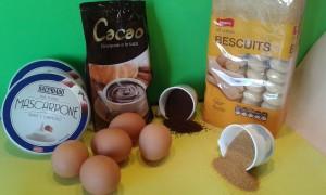 Ingredientes para hacer tiramisú