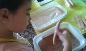 Dándole forma al tiramisú