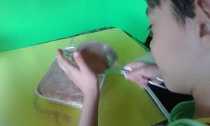 Espolvoreando el cacao