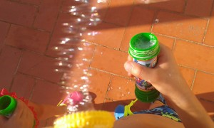 Lluvia de pompas de jabón