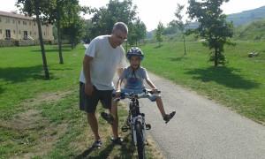 Aprendiendo a montar en bicicleta