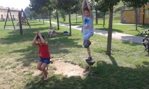 Sesión improvisada de yoga antes de que se acabe el verano