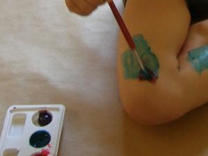 Pintando el cuerpo