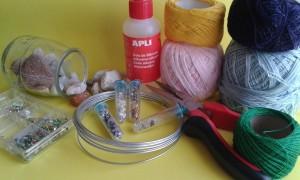 Materiales para crear un atrapasueños