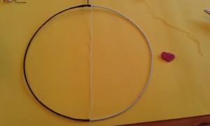 Dividimos el círculo por la mitad