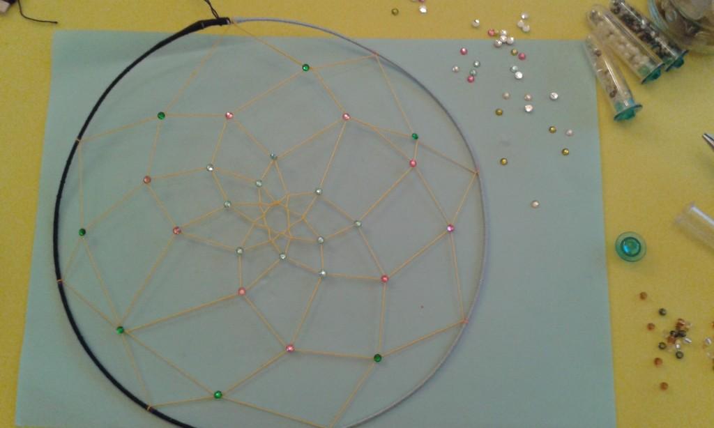 Círculo grande del atrapasueños decorado