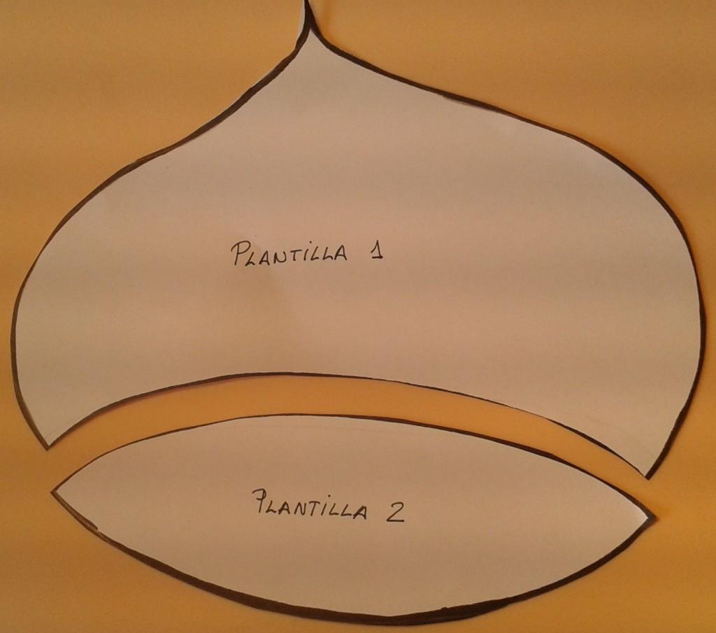 La plantilla de las castañas