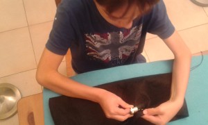 Aprendiendo a coser a mano
