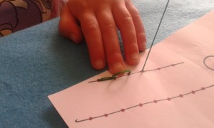 Usando la plantilla para aprender a coser