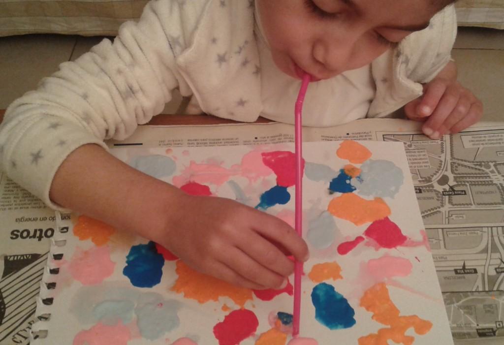 Técnica del soplado para pintar