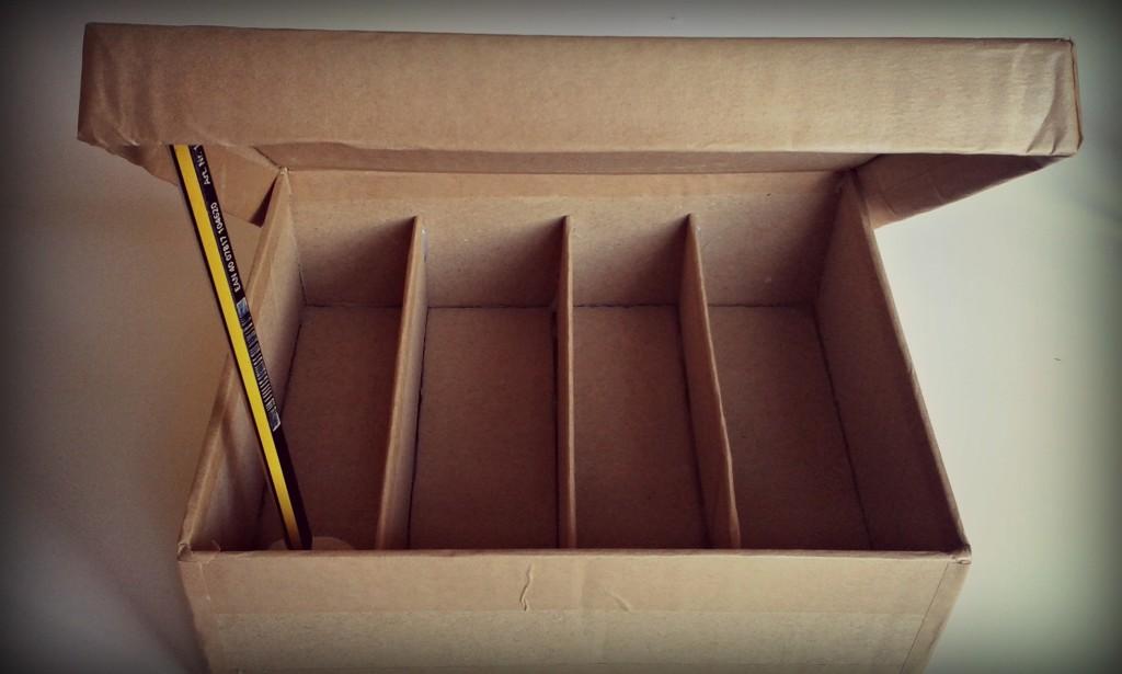 Caja de té hecha de cartón