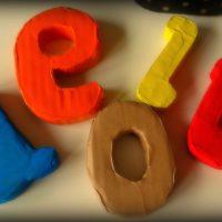 Como hacer letras de cartón en Rusketa