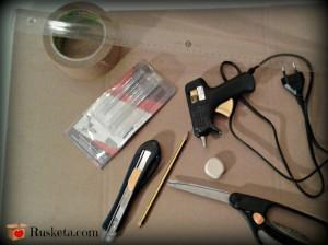 Materiales necesarios para hacer una caja de té de cartón