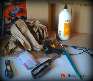 Materiales necesarios para hacer una papelera de cartón