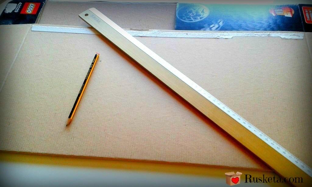 Marcar las piezas de cartón