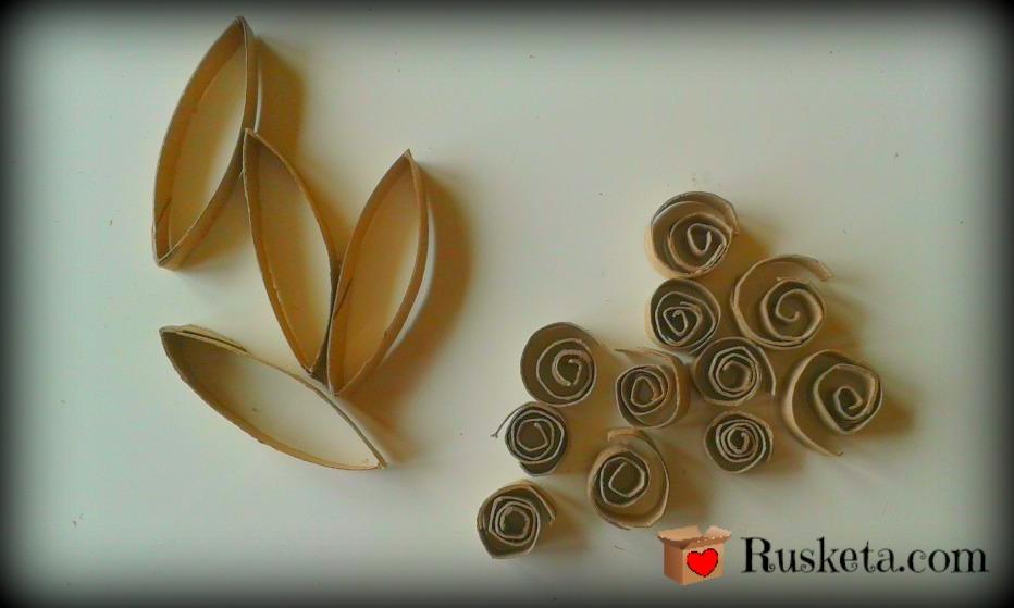 Tiras y caracoles de cartón