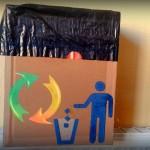 Cómo hacer una papelera de cartón a medida