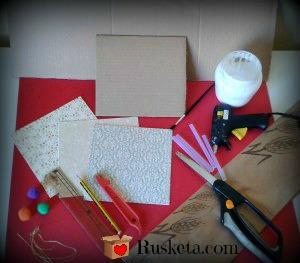 Materiales para hacer una bombonera de cartón