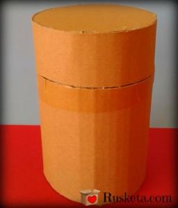 Materiales para hacer el bote de cartón