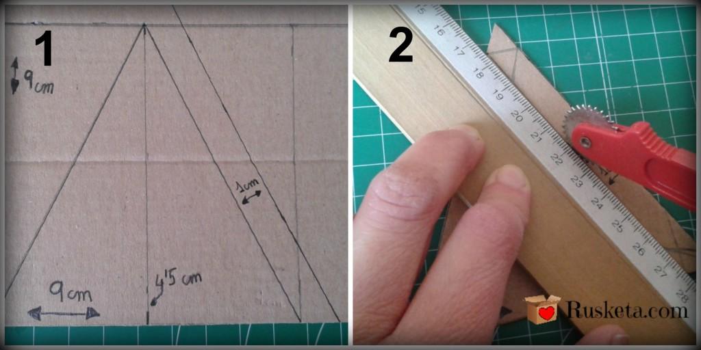 Cómo hacer los triángulos de la tapa piramidal