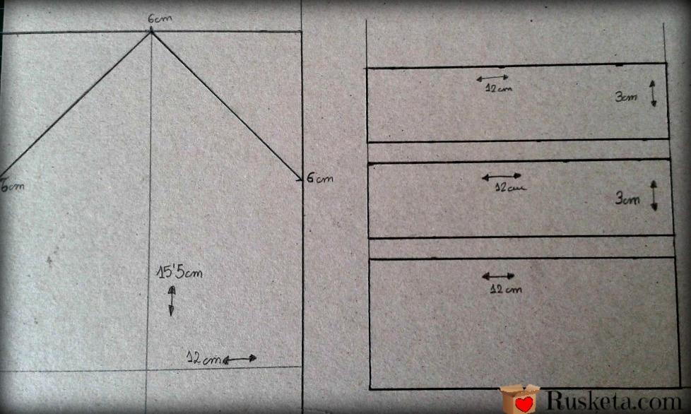 Piezas para hacer el portallaves de pared