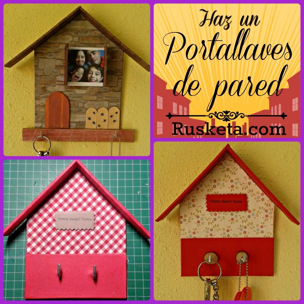 Haz tu propio portallaves de pared hecho con cartón