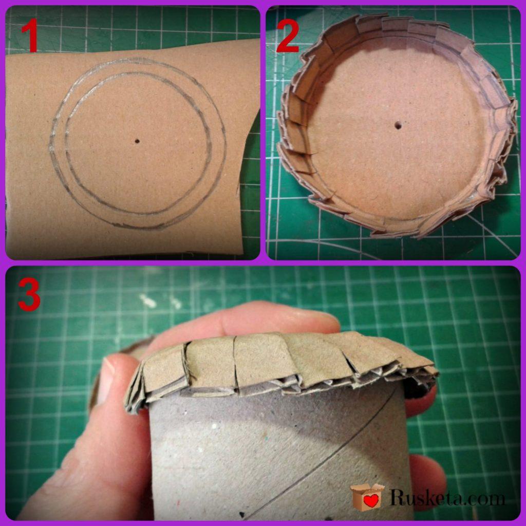 Corta y marca los extremos del guarda agujas