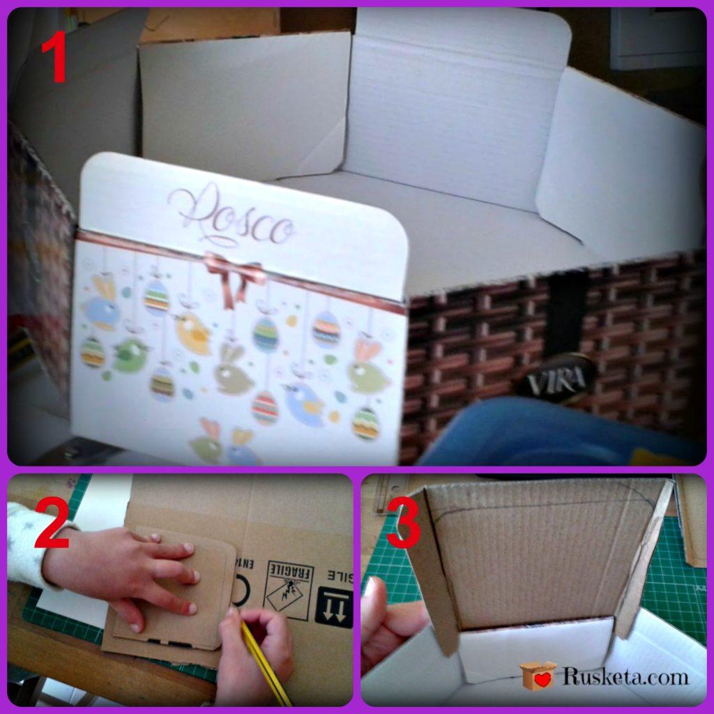 Adapta la caja de cartón a tu circo para niños