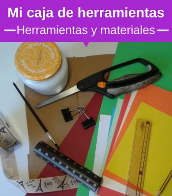 Herramientas y materiales para cartón