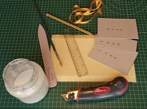Materiales para formar una caja libro