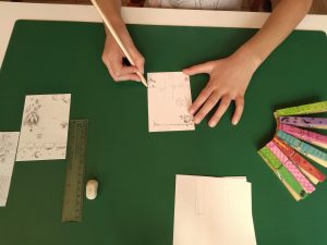 Dibujando las cartulinas