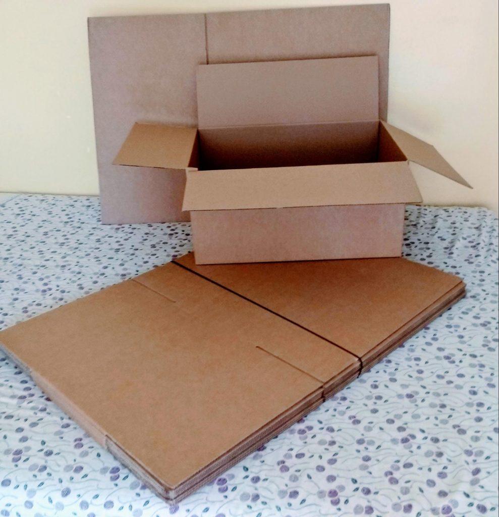 Caja americana o caja plegable de cartón