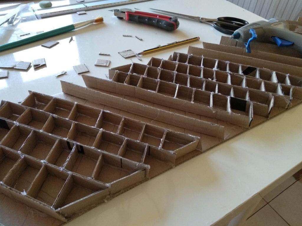 Estructura interior para reforzar el cartón