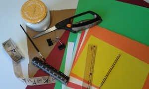 Materiales y herramientas de cartonaje