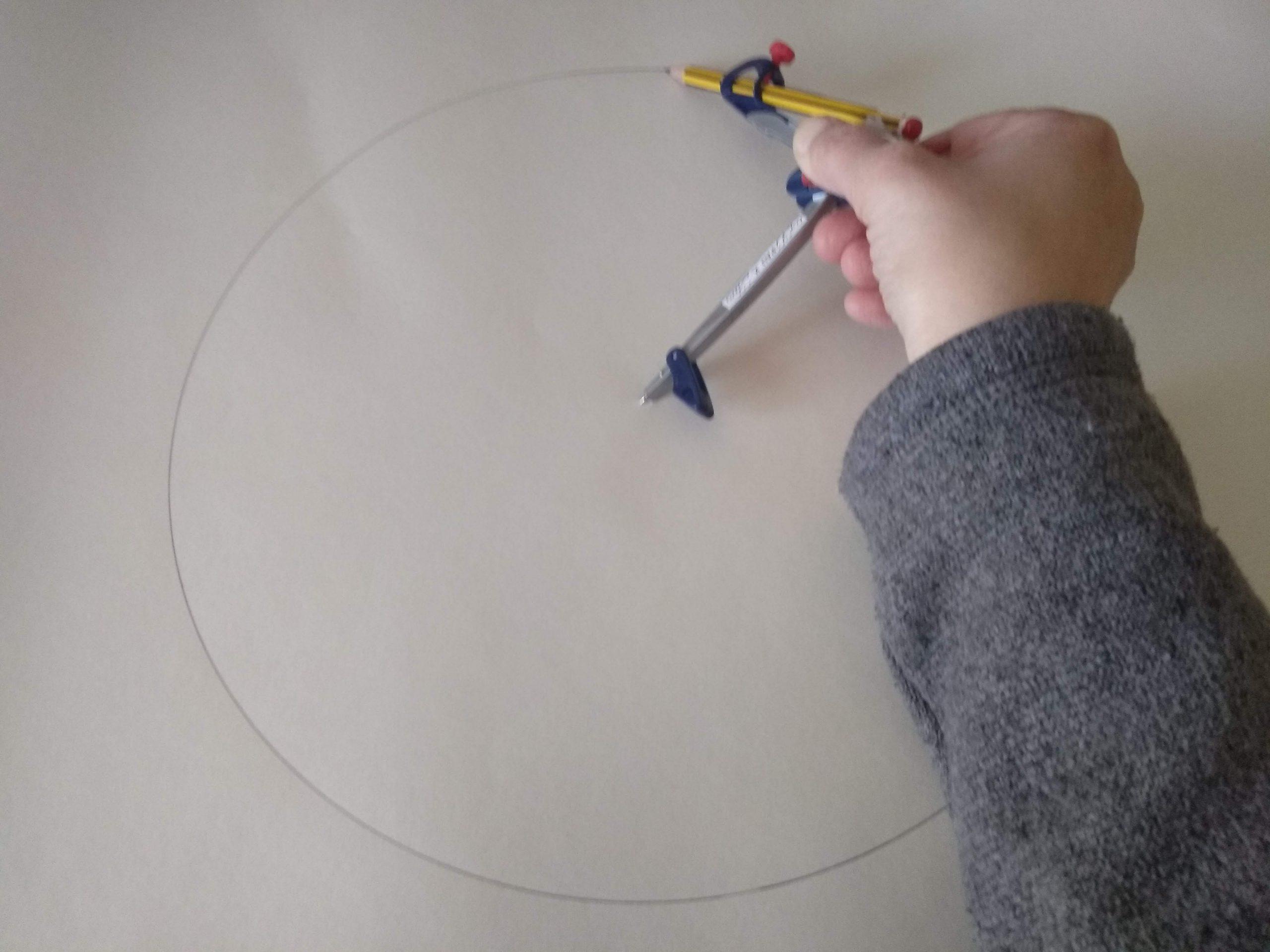 Dibujo para obtener un hexógono