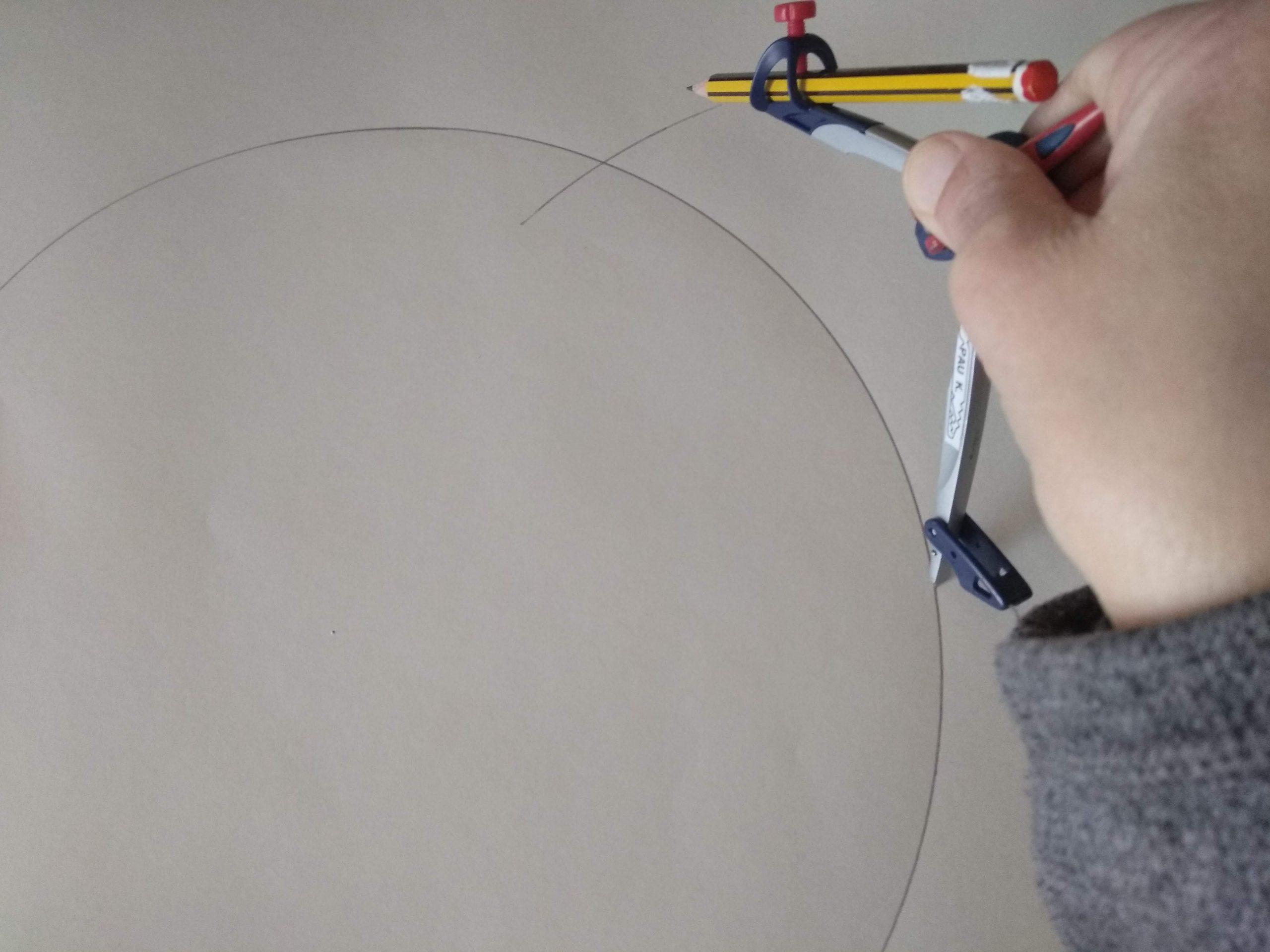 Marcaje con el compás sobre un círculo
